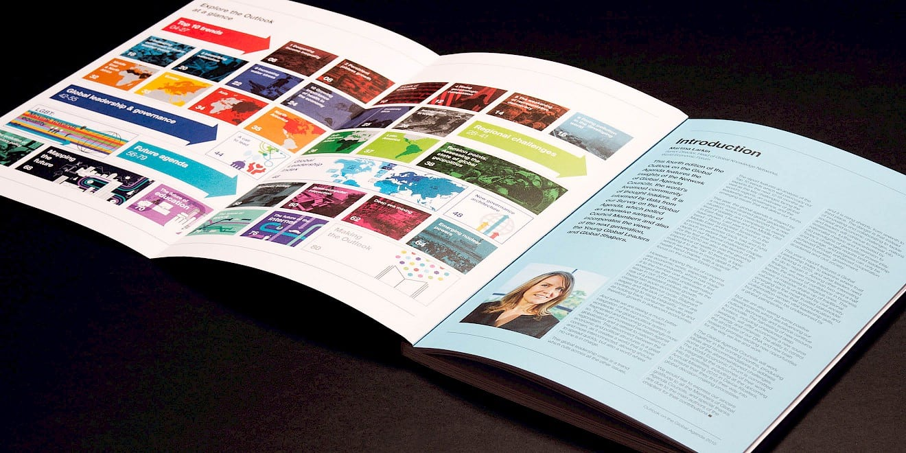 Introduction and contents design from World Economic Forum: Outlook on the Global Agenda 2015 report