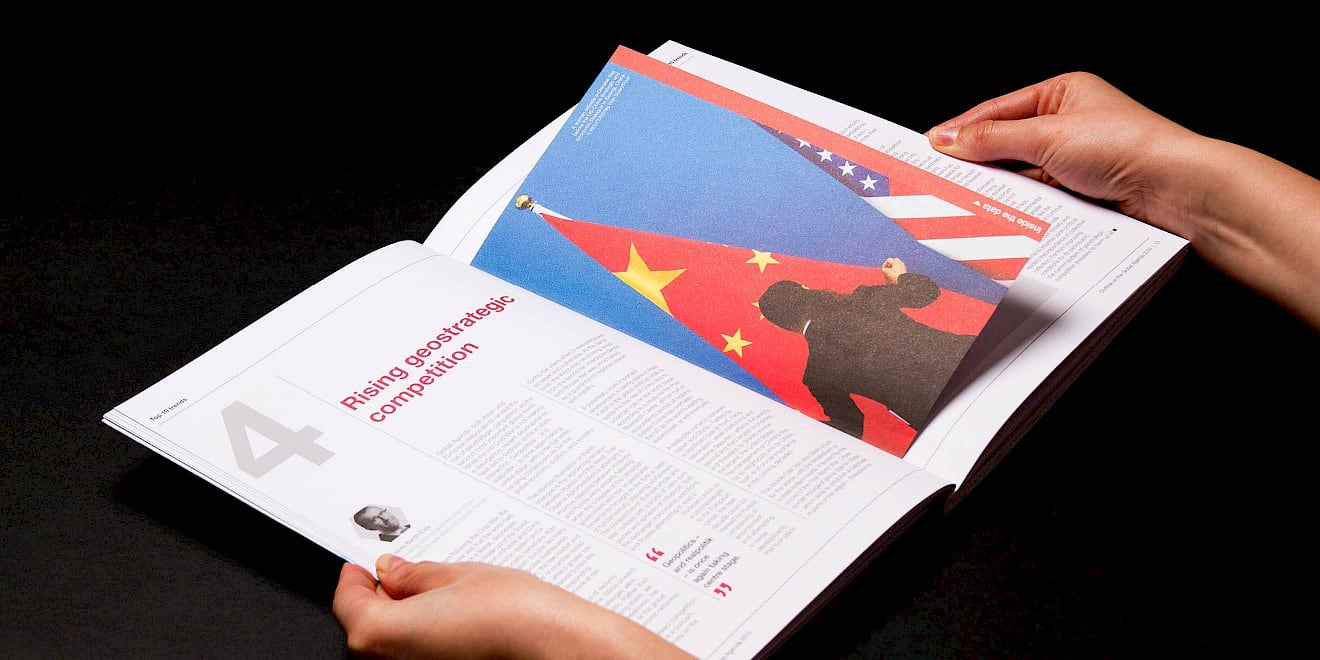 Page design from the World Economic Forum: Outlook on the Global Agenda 2015 report