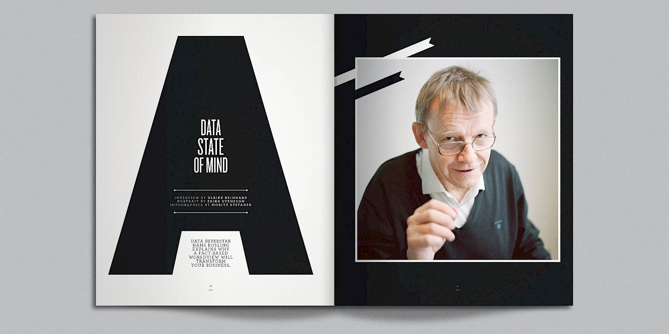 A Data State of Mind page design from Google Think Quarterly magazine