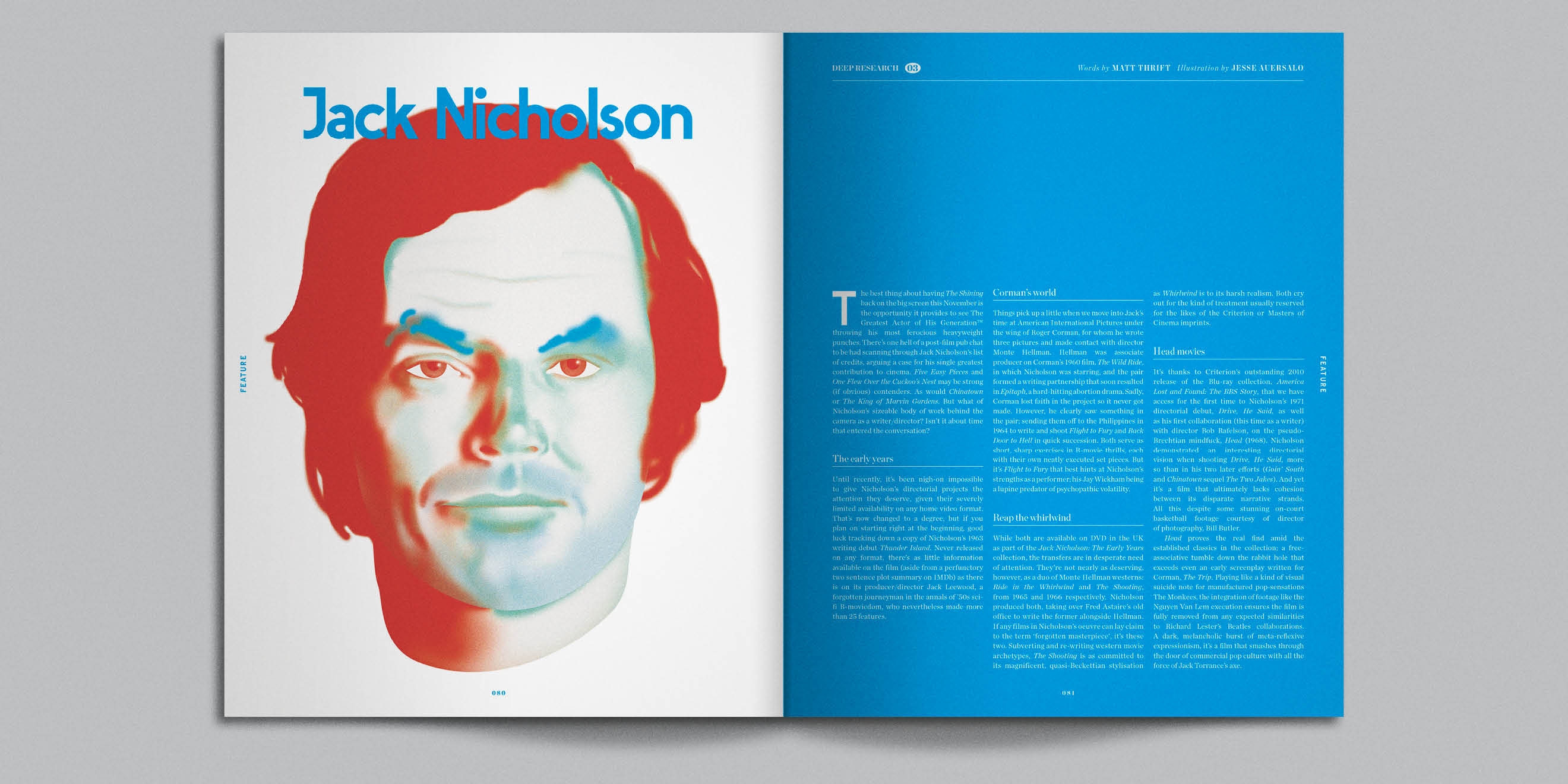 Little White Lies magazine editorial page design - image 2