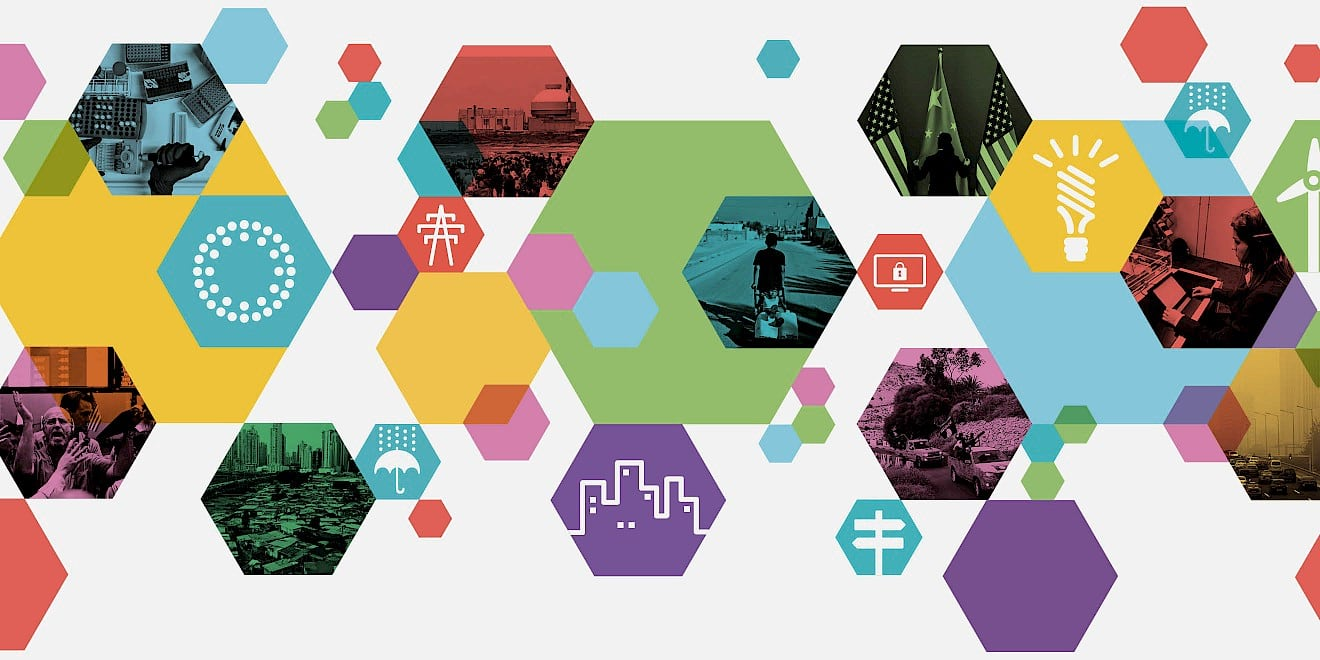 Pattern and icons from World Economic Forum: Outlook on the Global Agenda 2015 report