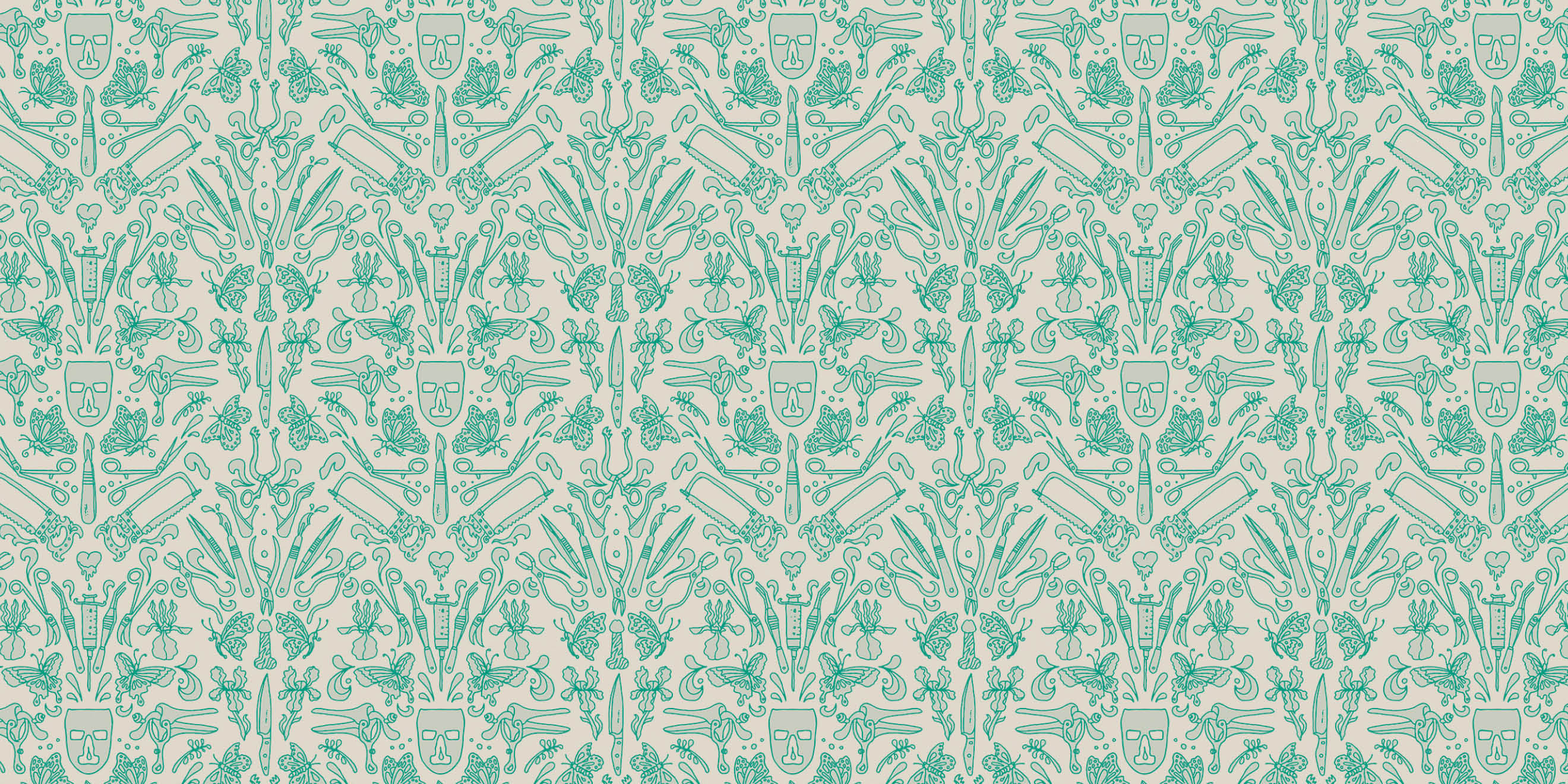 Little White Lies wallpaper pattern by Human After All Creative Director Paul Willoughby - image 4