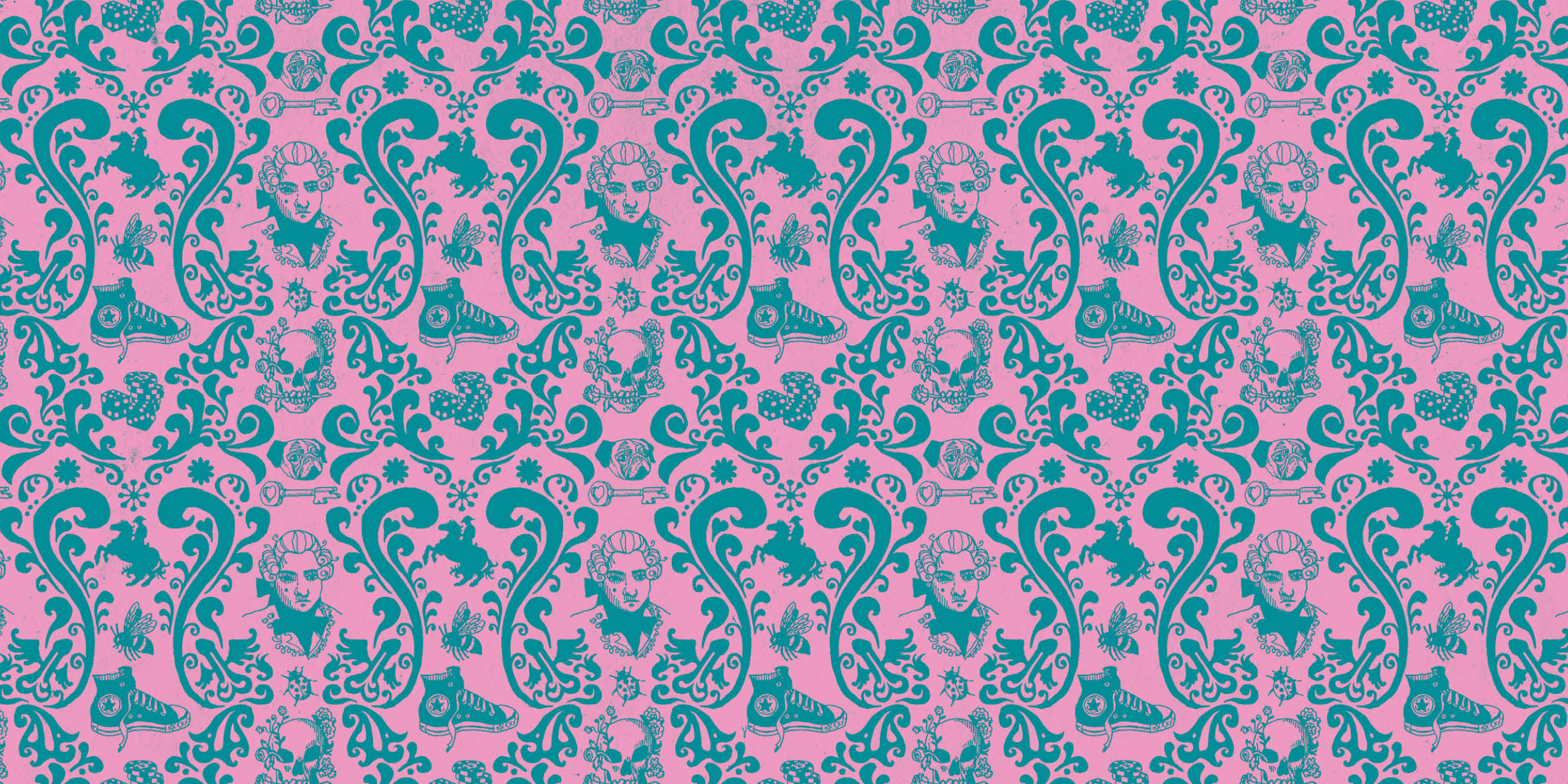 Little White Lies wallpaper pattern by Human After All Creative Director Paul Willoughby - image 6
