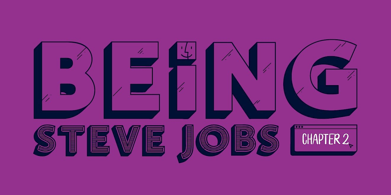 'Being Steve Jobs' - title typography design for 'The Way To Design'