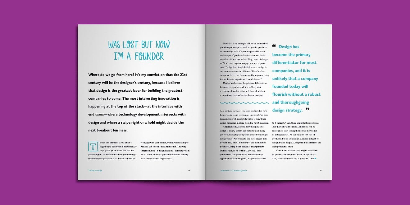 Foundation Capital: The Way To Design print design book spread