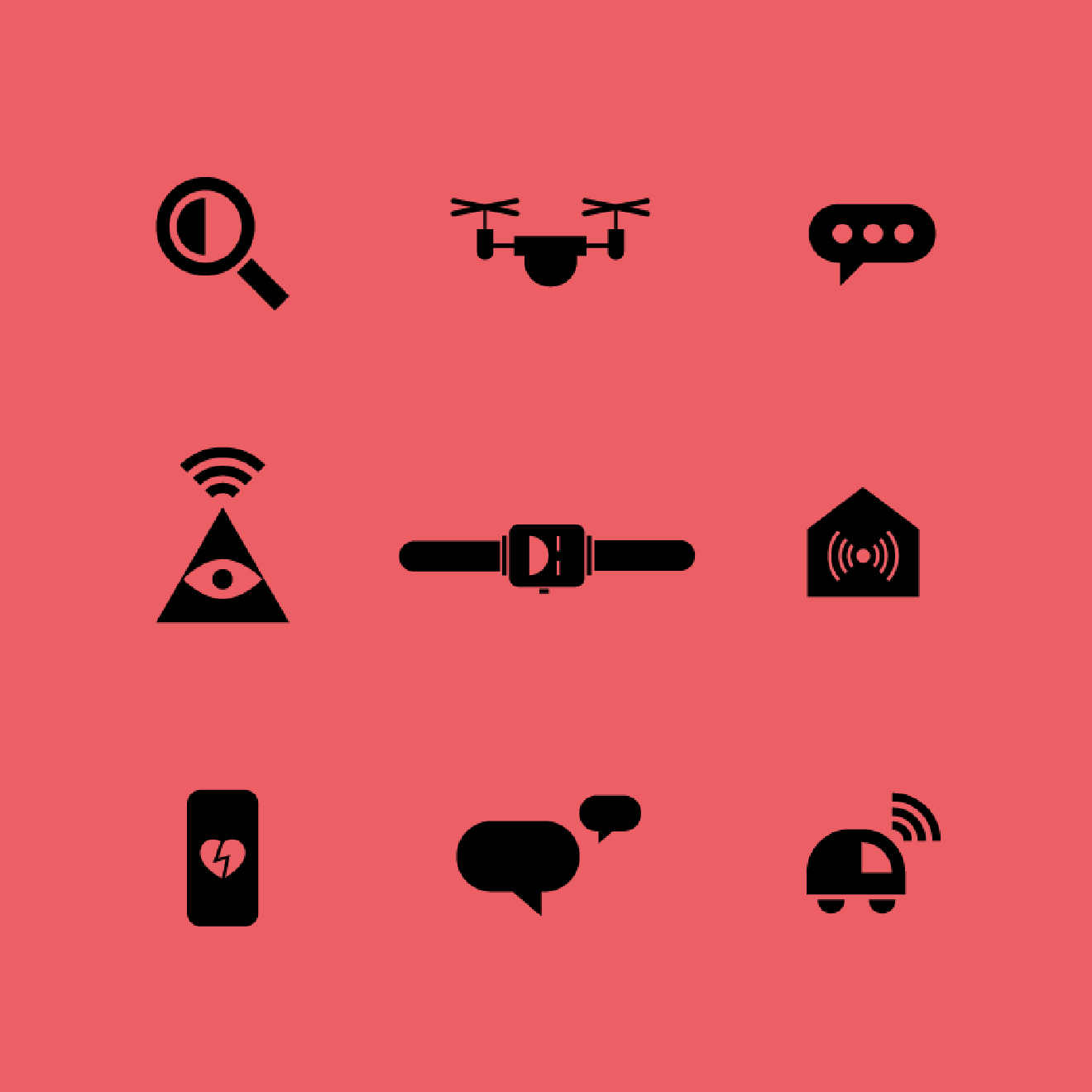Icons from Weapons of Reason magazine: The AI issue