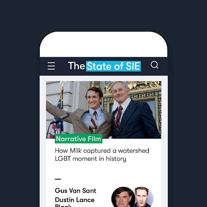 The State of SIE digital platform mobile mockup